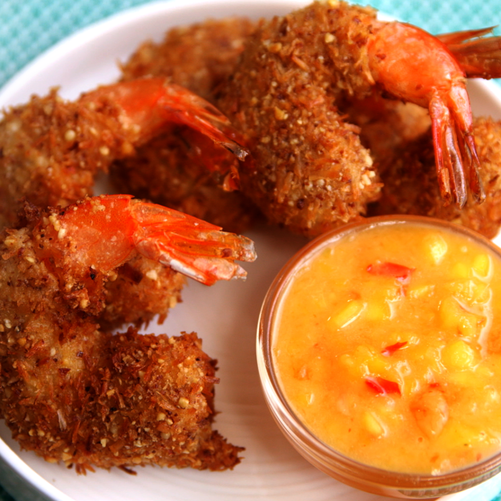 Clean Eating COconut Crusted Shrimp by Arielle Haspel on Healthination for Bewellwitharielle.com