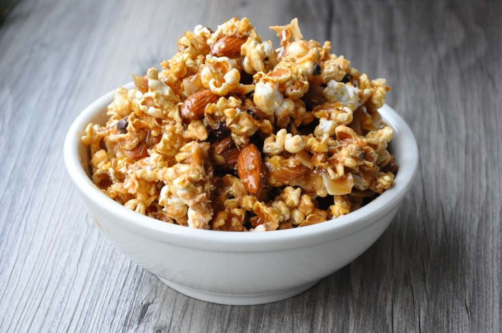 healthy coconut caramel crackerjacks - gluten-free and no corn syrup - made by arielle haspel of bewellwitharielle.com