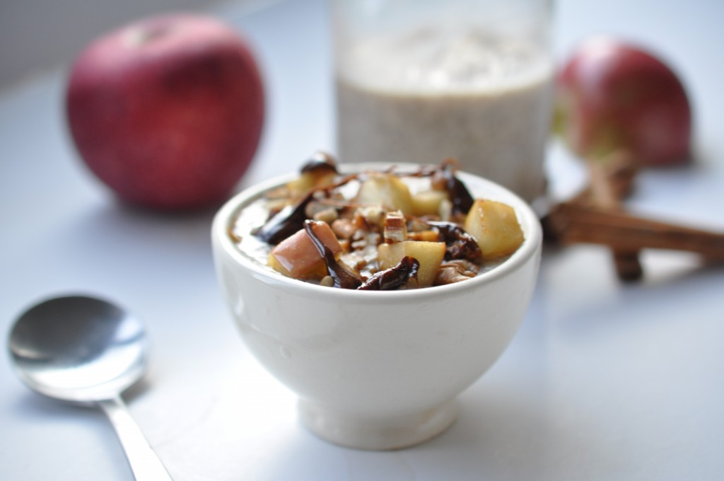 caramel-apple chia pudding