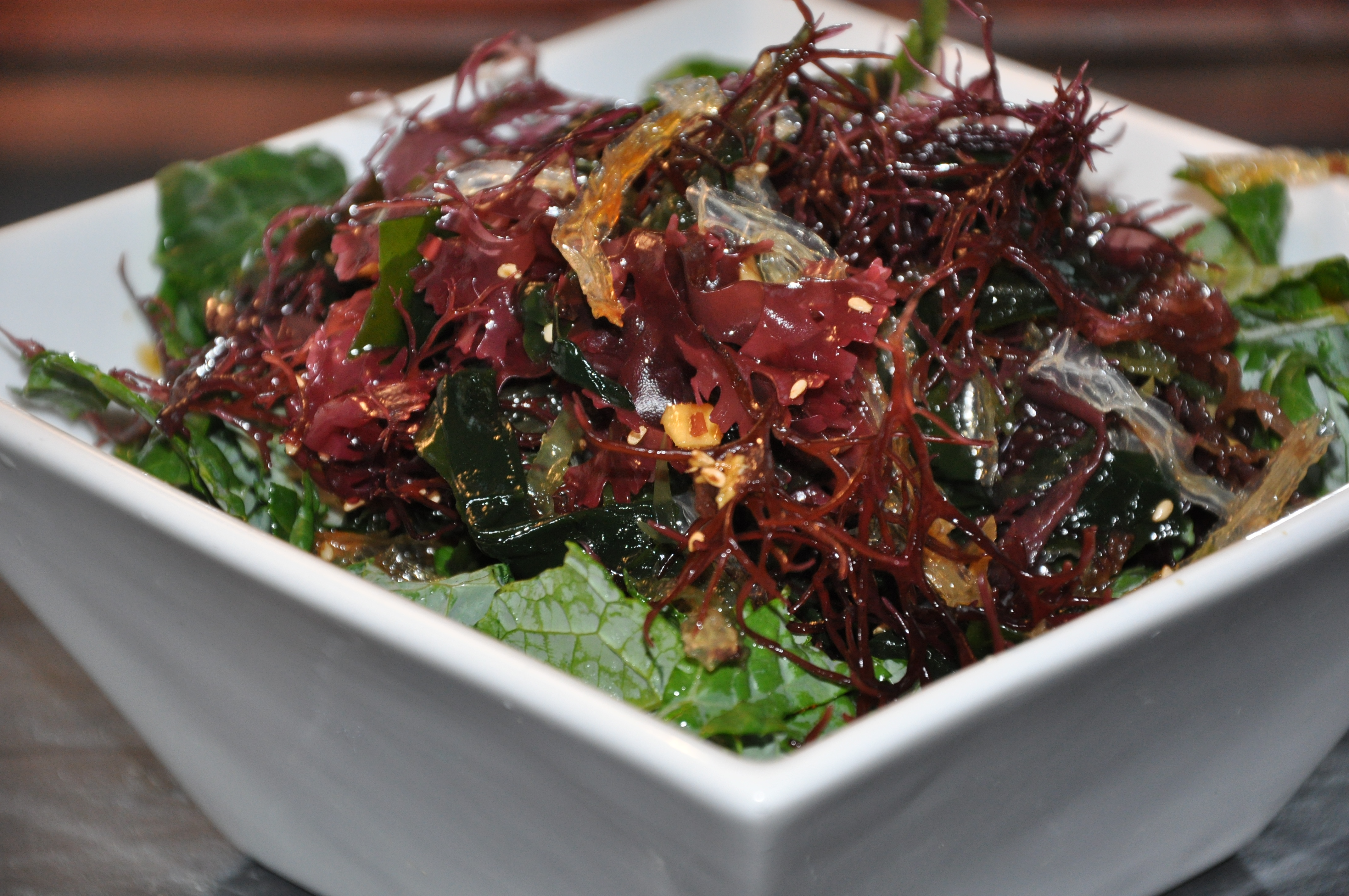 Kale Seaweed Salad with Sesame-Ginger Vinaigrette - Be Well With ...