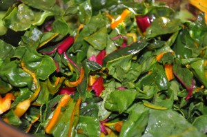 Rainbow Chard - SO colorful, healthy and delicious!
