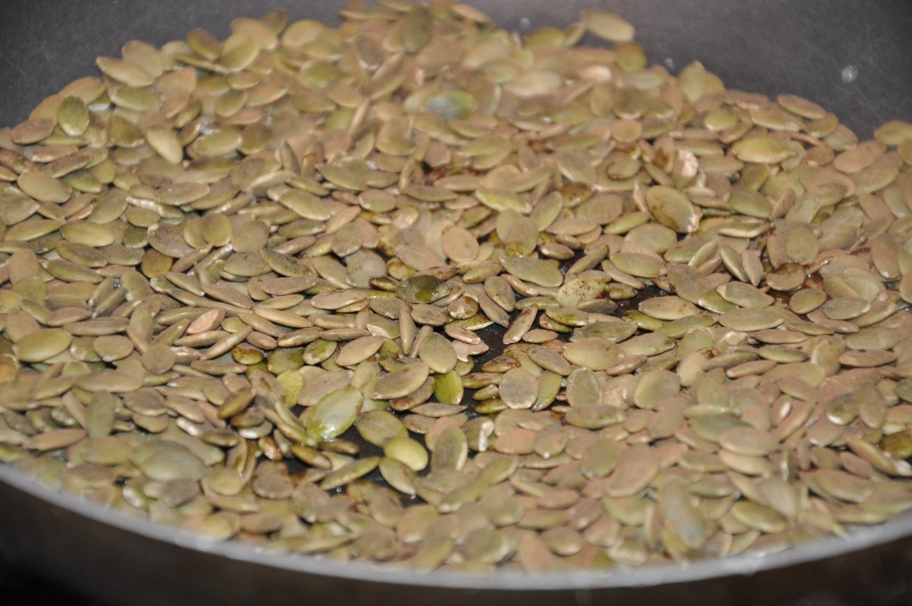 toasted pumpkin seeds by be well with arielle
