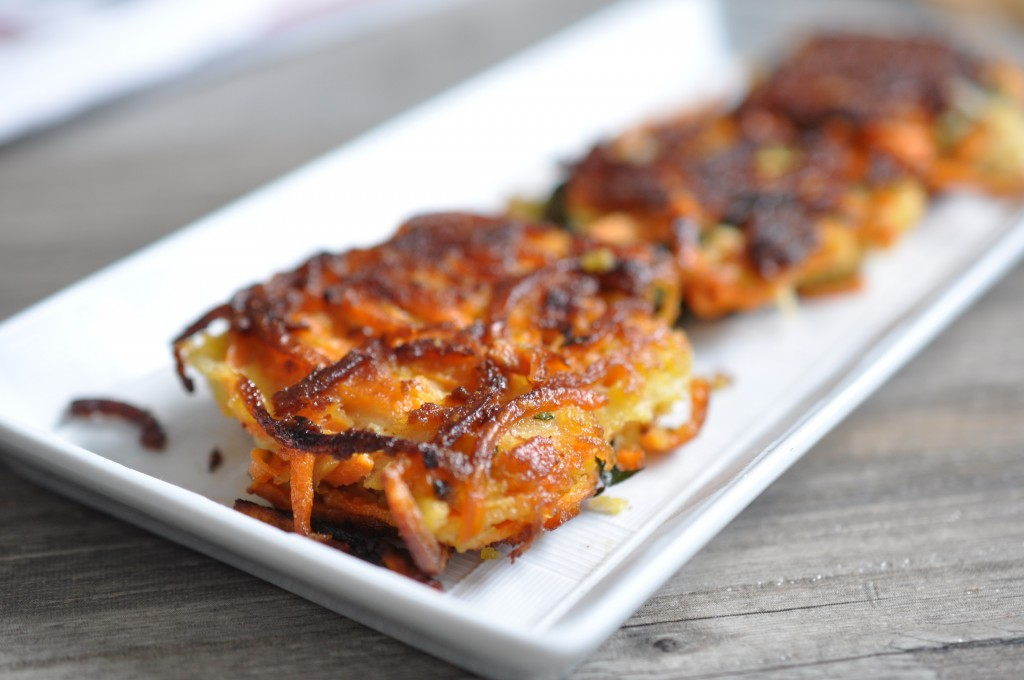 Sweet Potato Kale Latkes