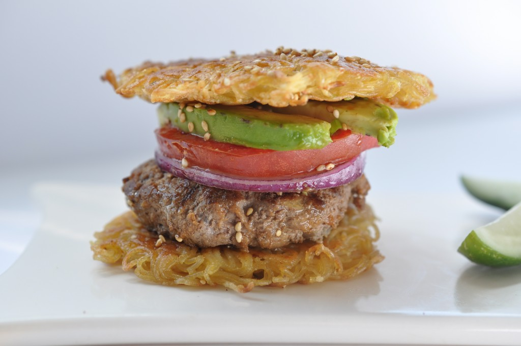 gluten free grass-fed burger by arielle haspel of be well with arielle