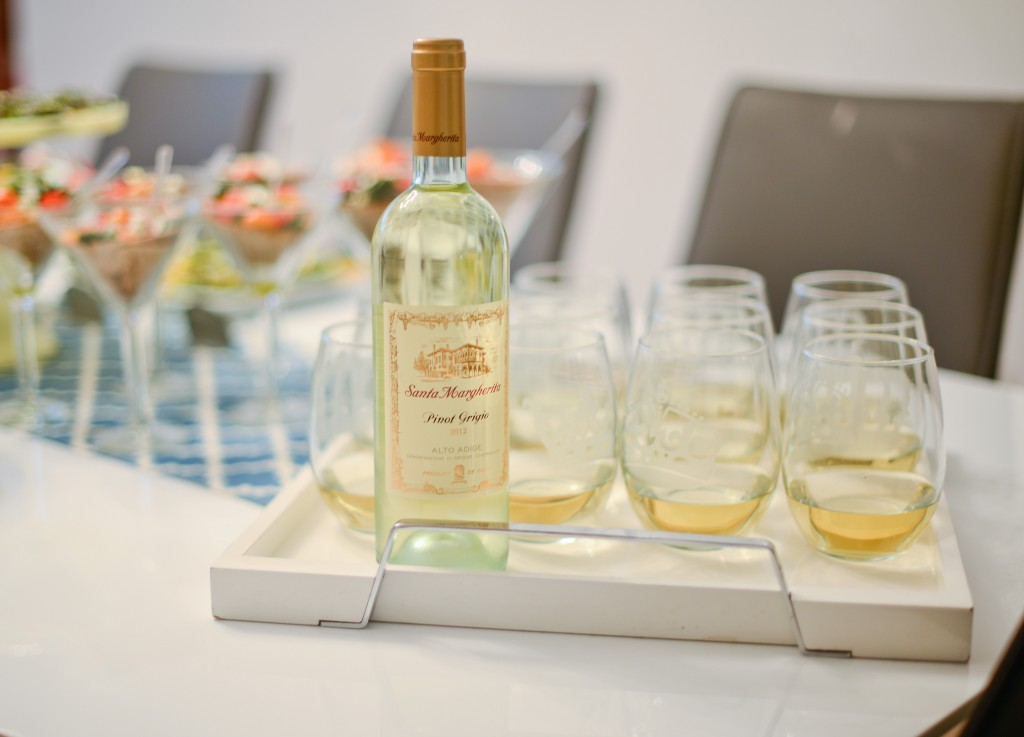 Santa Margherita wine at Be well with Arielle and Fashionable Hostess event