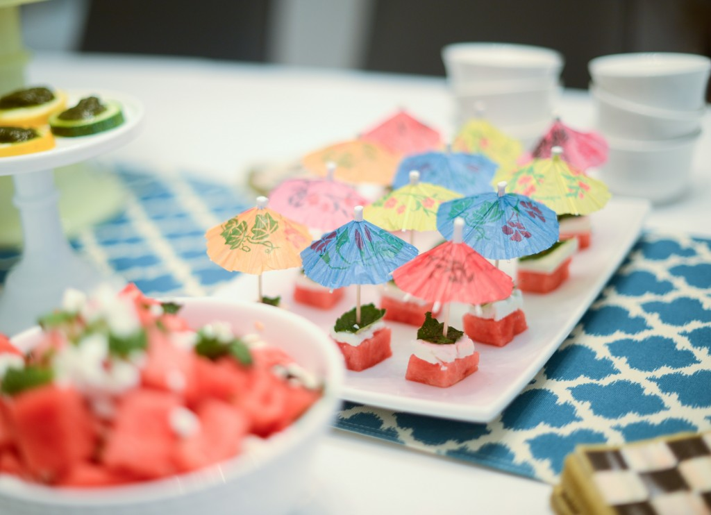 watermelon feta and mint skewers by bewellwitharielle.com