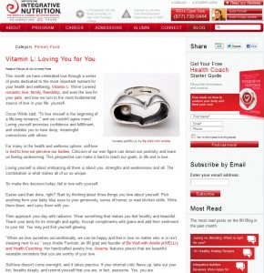 Featured in Vitamin L IIN blog Feb 28, 2012