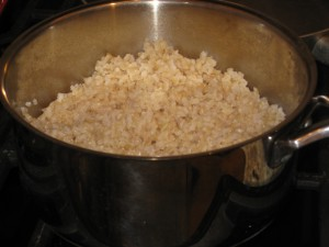Fresh and fluffy brown rice...