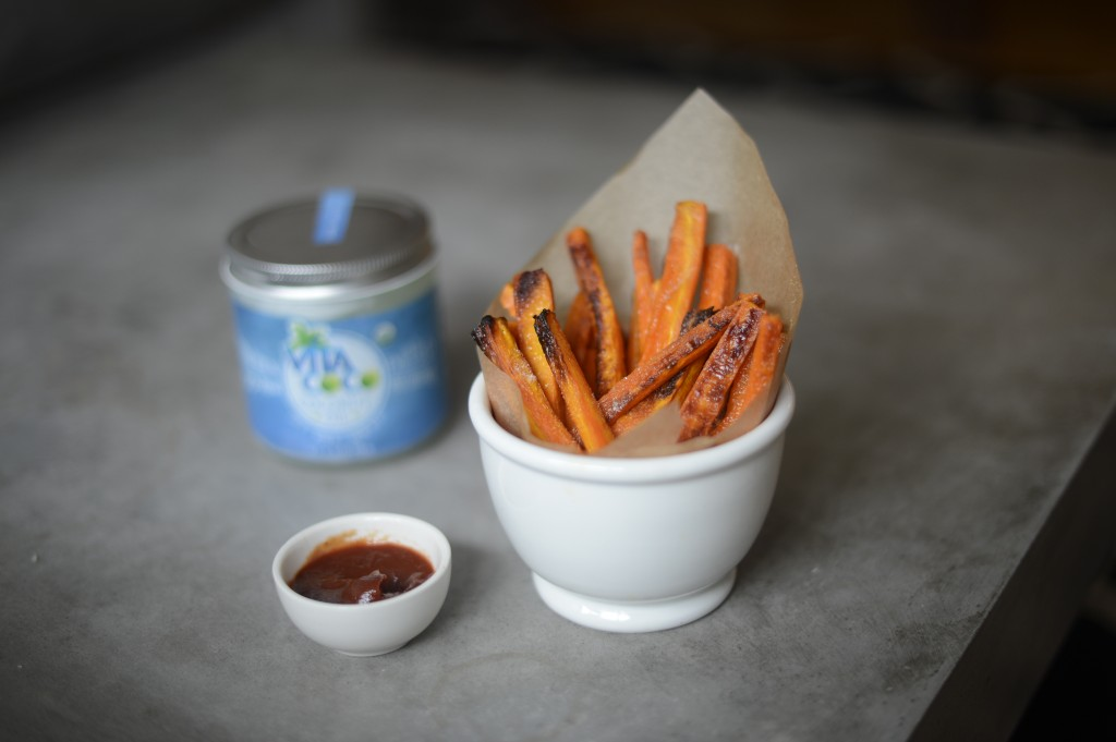 Maple Carrot Fries by Arielle Haspel of bewellwitharielle.com using vitacoco coconut oil