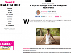 Spring cleanse tips by arielle fierman in glamour.com