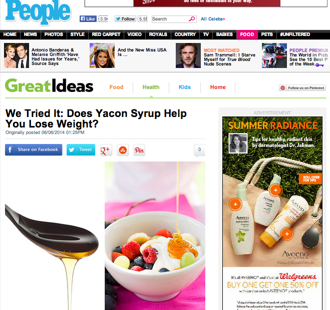 is yacon syrup the new best sweetener to lose weight? tips in people.com