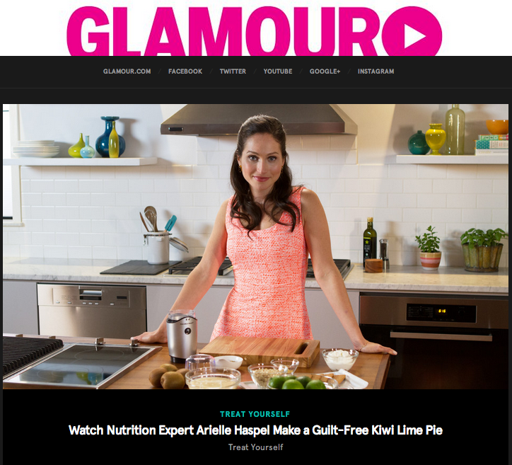 Arielle Haspel glamour treat yourself cooking series