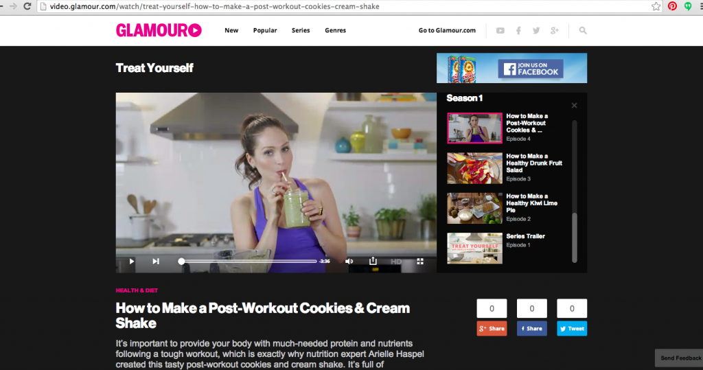 Arielle Haspel COokies and Cream Milkshake Smoothie on Glamour.com