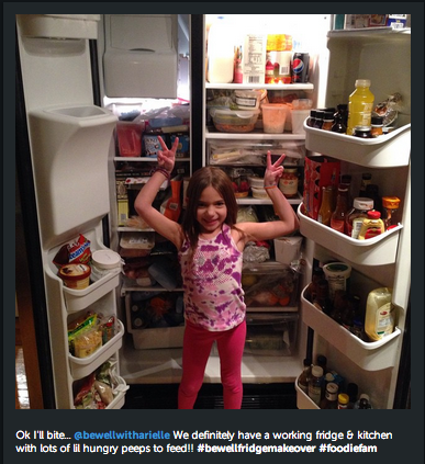 be well fridge makeover winner