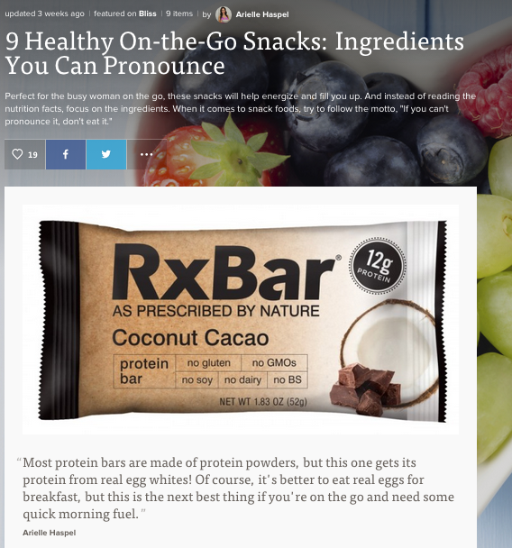 9 healthy on-the-go snacks with ingredients you can pronounce by arielle haspel on mode.com