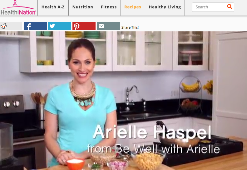 How to make falafel salad on arielle haspels healthy cooking show on healthination.com