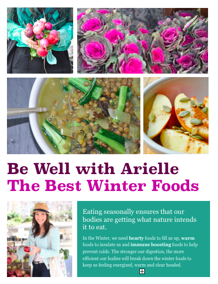 best foods to eat in the winter handout by bewelliwtharielle.com