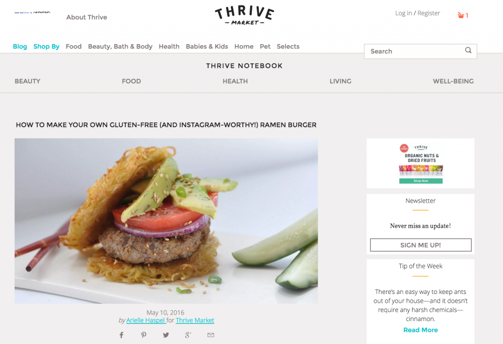 thrive market ramen burger by arielle haspel