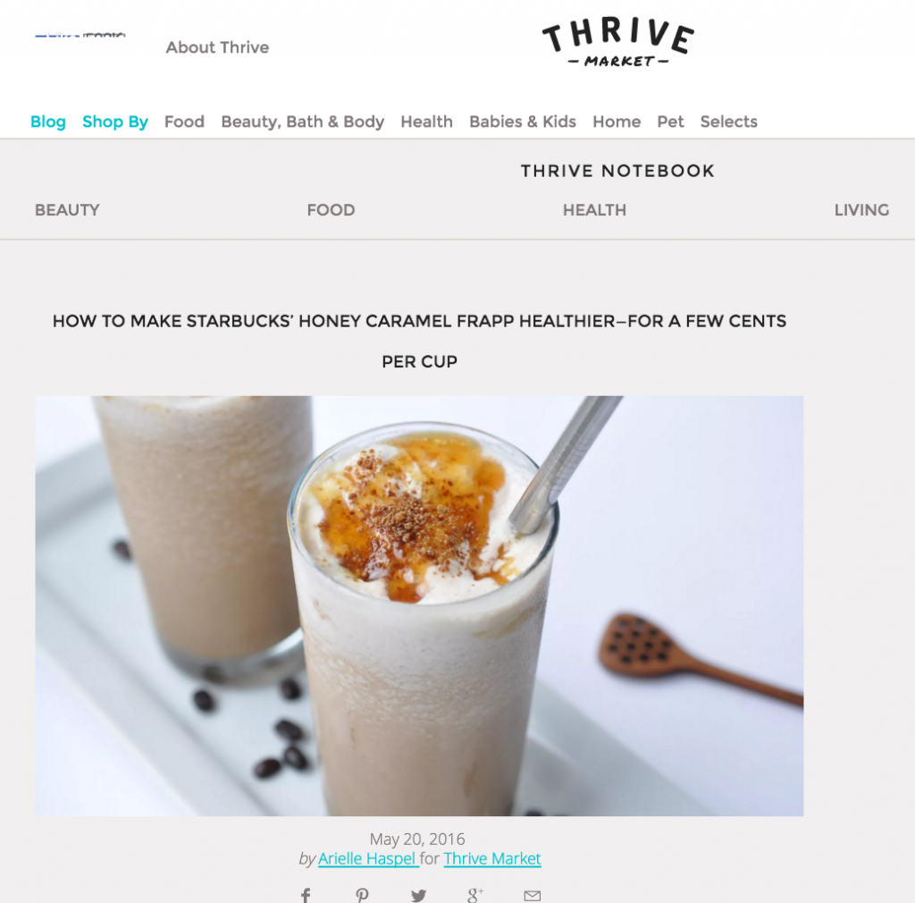 arielle haspel on thrive market