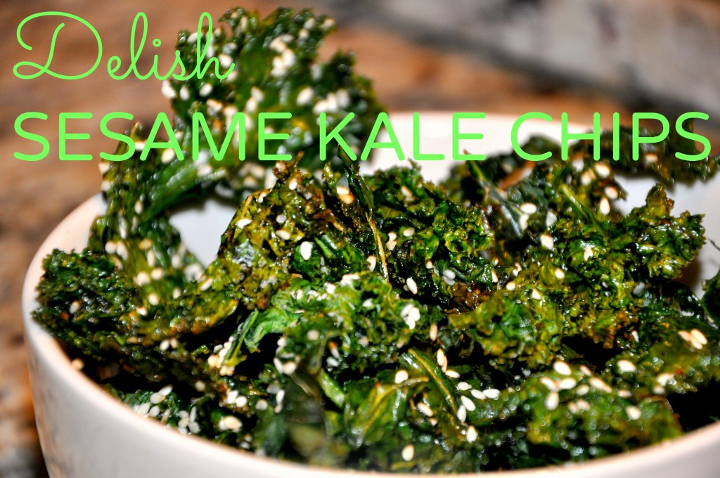 Delish Sesame Kale Chips - Be Well With Arielle