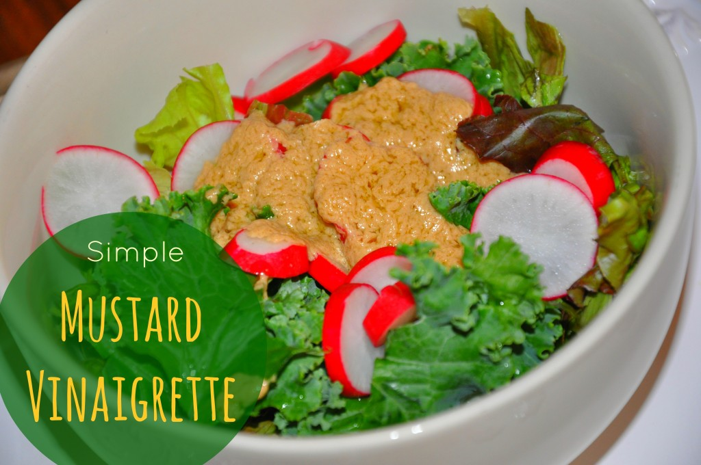be well with arielle's simple mustard vinagrette