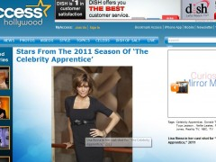 Lisa Rina wearing Be Well with Arielle bracelet on Celebrity Apprentice! January 2011