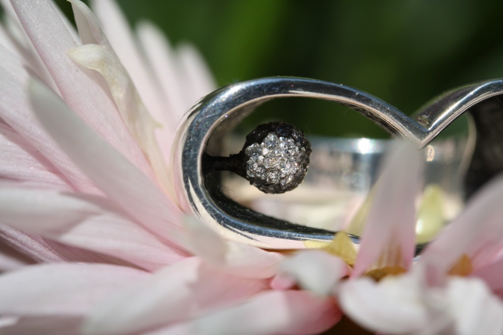 closeup of iloveme ring with diamond