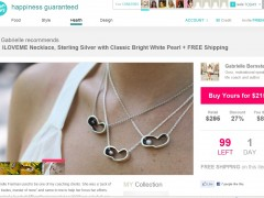 The iloveme necklace featured on Opensky.com! June 2, 2011