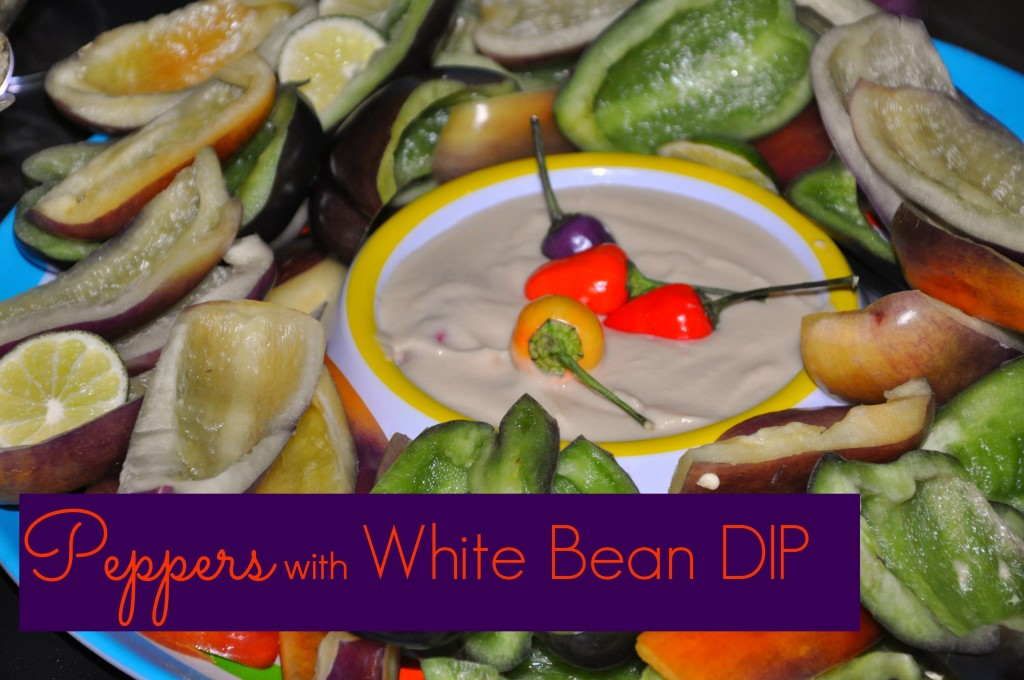 peppers with white bean dip