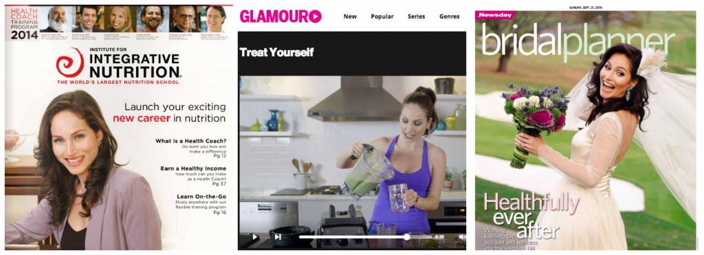 Arielle Haspel Press - Integrative Nutrition Cover, Glamour and Newsday