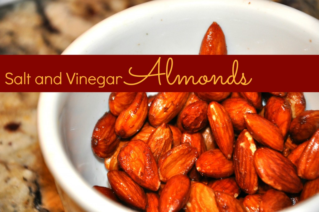 salt and vinegar almonds healthy snack chips