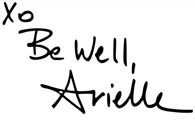signature xo be well arielle