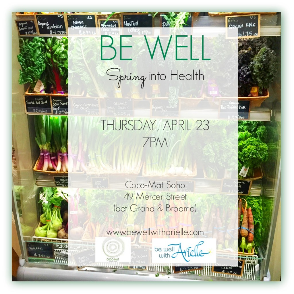 arielle haspels be well spring into health event