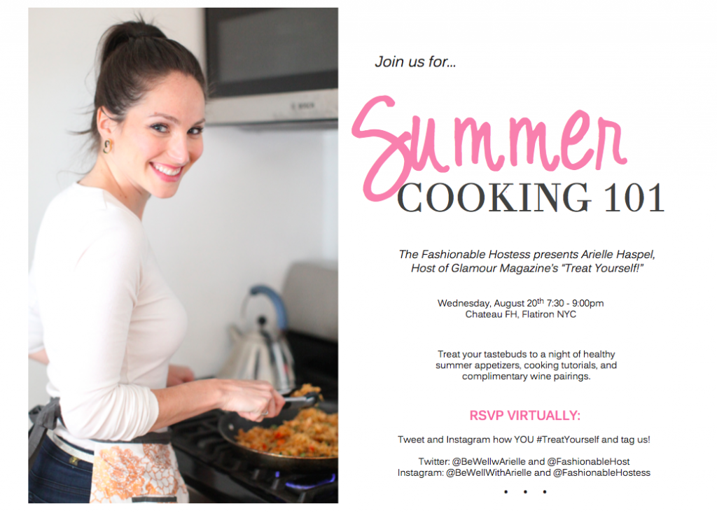 summer cooking 101 invite