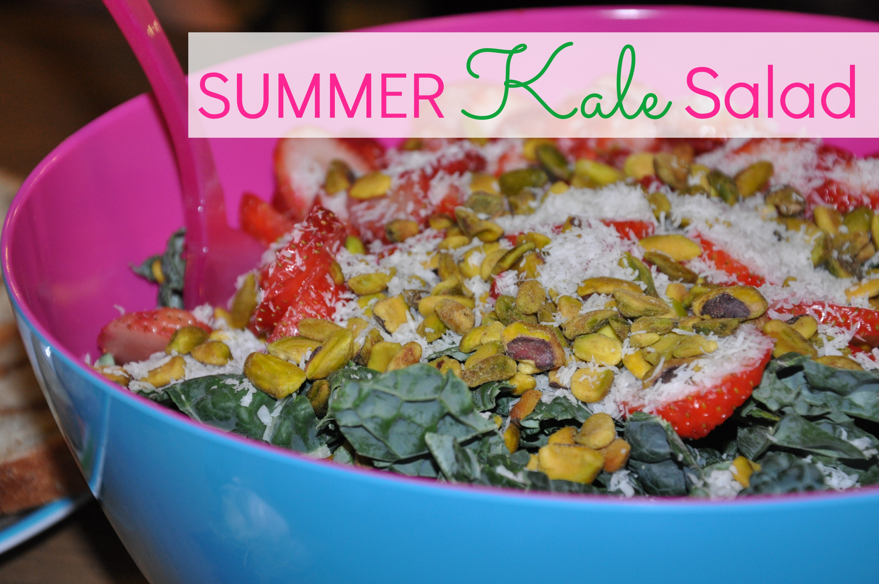 Summer Kale Salad with Strawberries, Pistachios and ...