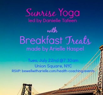 sunrise yoga event in nyc with danielle tafeen and arielle haspel