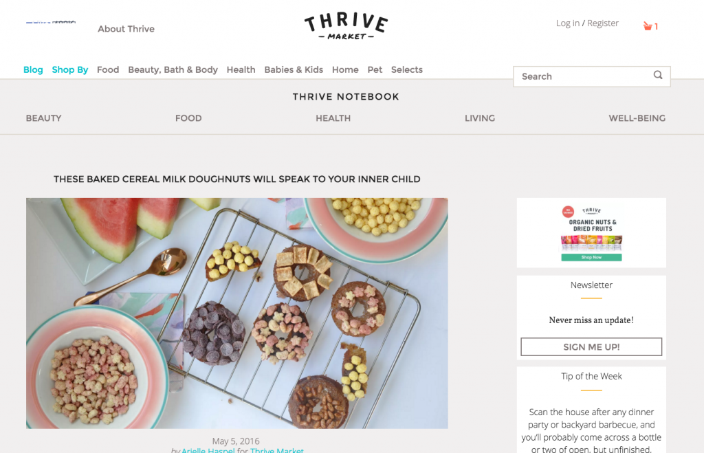 Thrive Market - May 5, 2016