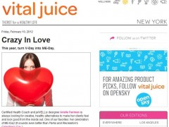 "Featured in Vital Juice ""Crazy in Love"" Feb 10, 2012"