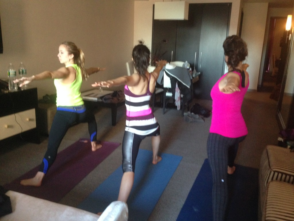 yoga morning of arielle haspels healthy wedding
