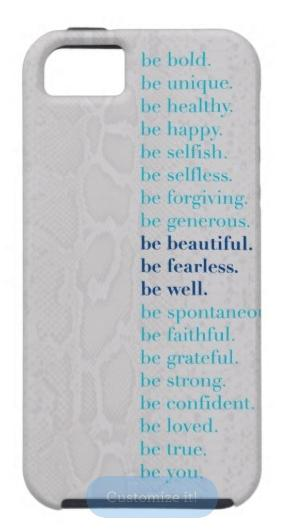 zazzle - be well with arielle - phone